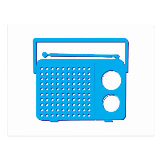 Radio azul postales