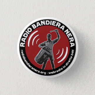 radio bandiera nera pinback button