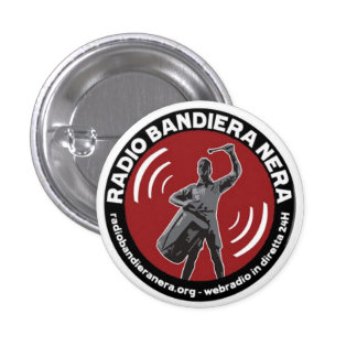 radio bandiera nera pinback button