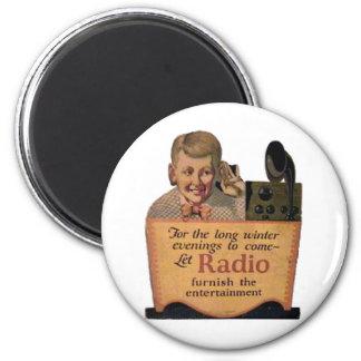 Radio Boy 2 Inch Round Magnet