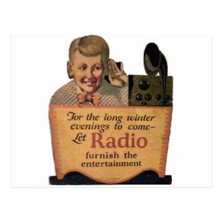 Radio Boy Postcard