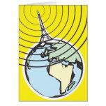 Radio Broadcast Earth Greeting Cards