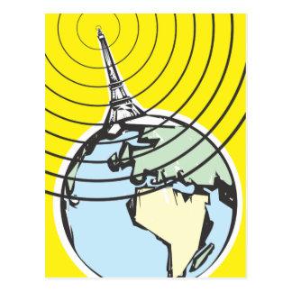 Radio Broadcast Earth Postcard