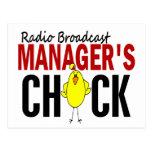 RADIO BROADCAST MANAGER'S CHICK POSTCARD