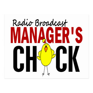 RADIO BROADCAST MANAGER'S CHICK POSTCARD
