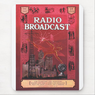 Radio Broadcast-Red Mouse Pad