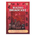 Radio Broadcast-Red Post Cards
