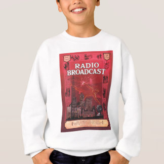 Radio Broadcast-Red Sweatshirt