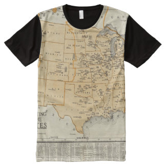Radio Broadcasting Stations Of The United States All-Over-Print T-Shirt