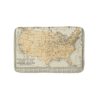 Radio Broadcasting Stations Of The United States Bathroom Mat