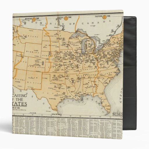 Radio Broadcasting Stations Of The United States 3 Ring Binder