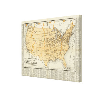 Radio Broadcasting Stations Of The United States Canvas Print