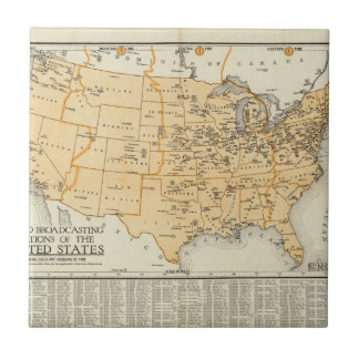 Radio Broadcasting Stations Of The United States Ceramic Tile