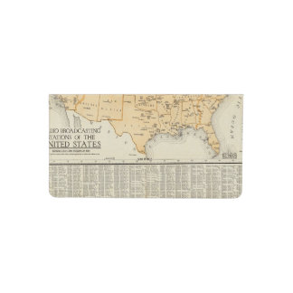 Radio Broadcasting Stations Of The United States Checkbook Cover