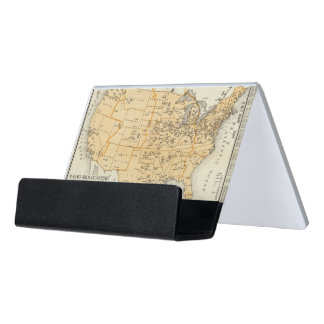 Radio Broadcasting Stations Of The United States Desk Business Card Holder
