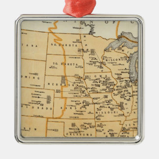 Radio Broadcasting Stations Of The United States Metal Ornament