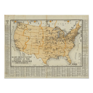 Radio Broadcasting Stations Of The United States Poster