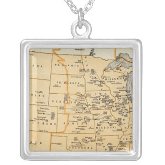 Radio Broadcasting Stations Of The United States Silver Plated Necklace