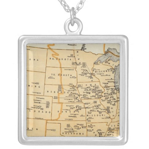 Radio Broadcasting Stations Of The United States Square Pendant Necklace