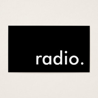 radio. business card