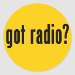 ¿radio conseguida? pegatinas redondas