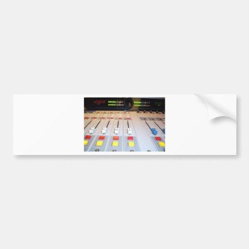 radio console bumper sticker
