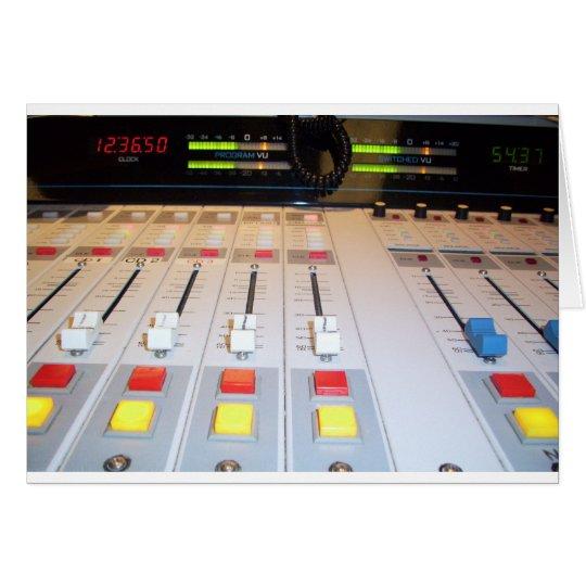 radio console card