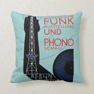 Radio de 1931 alemanes y expo de la música cojines