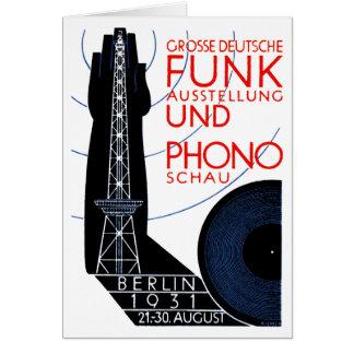 Radio de 1931 alemanes y expo de la música tarjeta