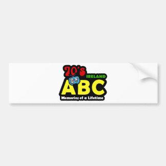 Radio de ABC 70s Irlanda Pegatina Para Auto