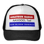 Radio de Amatuer - dios bendice América Gorros