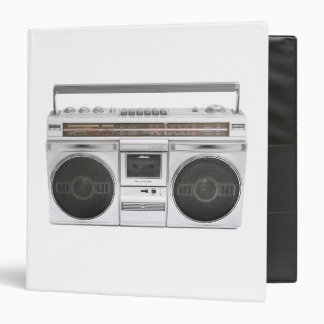 """Radio de Boombox de la escuela vieja Carpeta 1 1/2"""""""