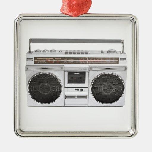 Radio de Boombox de la escuela vieja Adorno De Reyes