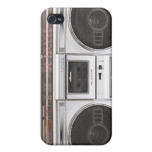 Radio de Boombox de la escuela vieja iPhone 4 Cárcasa