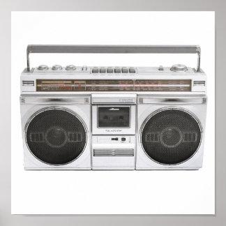 Radio de Boombox de la escuela vieja Poster