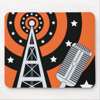 Radio de difusión del vintage Mousepad Alfombrilla De Raton
