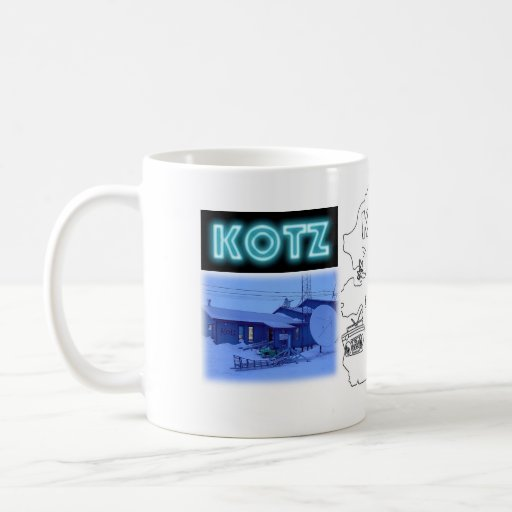 Radio de KOTZ 40 años Taza Básica Blanca