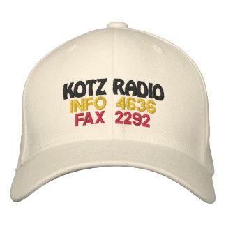 RADIO DE KOTZ, INFO 4636, FAX 2292 GORRA DE BÉISBOL