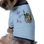 Radio de la granja de la diversión camiseta de mascota