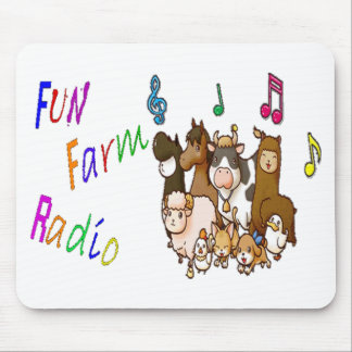 Radio de la granja de la diversión tapetes de ratón