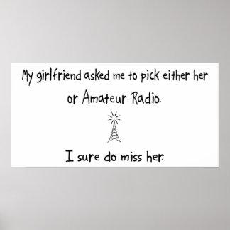 Radio de la novia o del aficionado de la selección posters
