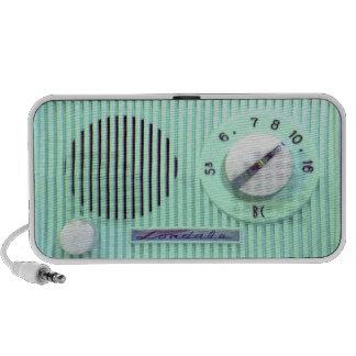 Radio de Londale del vintage - turquesa Mini Altavoz