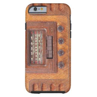 Radio de madera del vintage funda para iPhone 6 tough