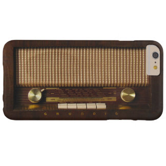 Radio de madera del vintage funda para iPhone 6 plus barely there