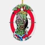 Radio de tiro del zombi ornamentos de navidad