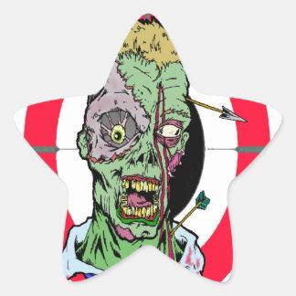 Radio de tiro del zombi pegatina en forma de estrella
