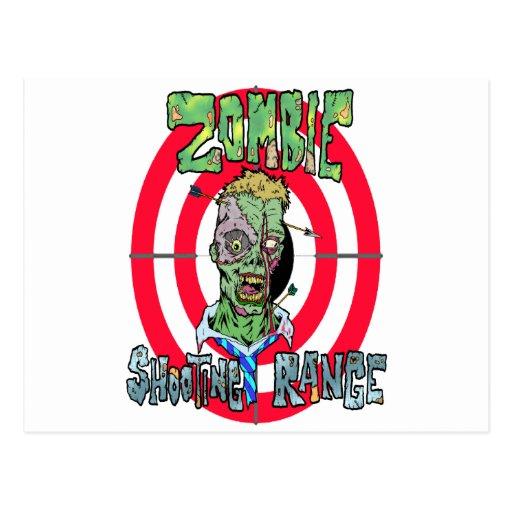 Radio de tiro del zombi postales