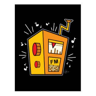 Radio de transistor - postal