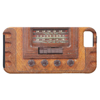 Radio de Woodenl del vintage iPhone 5 Funda