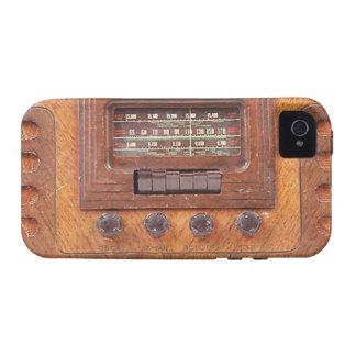 Radio de Woodenl del vintage iPhone 4/4S Carcasas